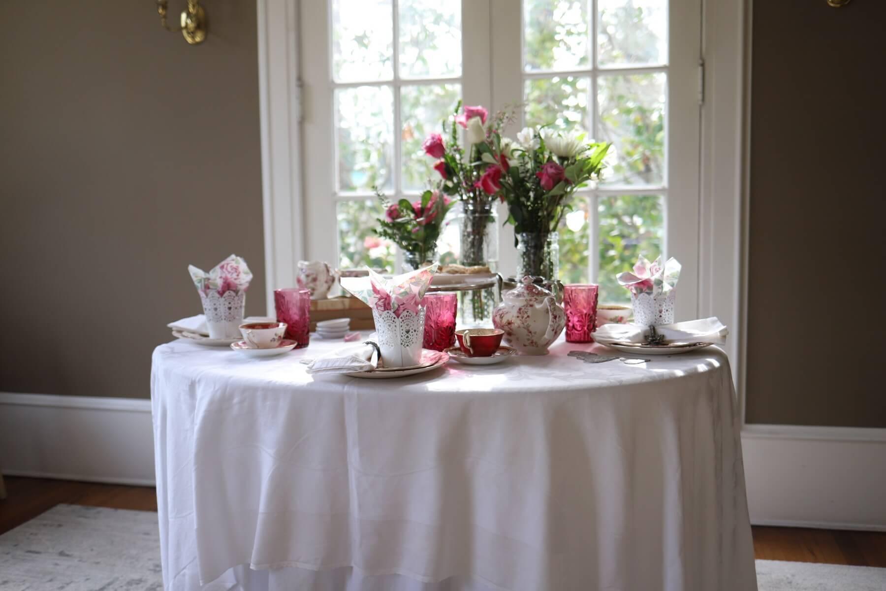 valentine day table decoration