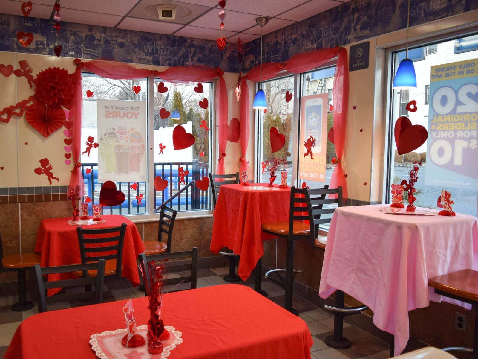 valentine restaurant decoration