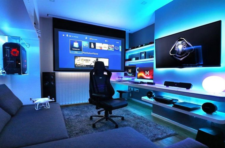 Mesmerizing Gaming Room Interior Designs Ideas The Architecture Designs