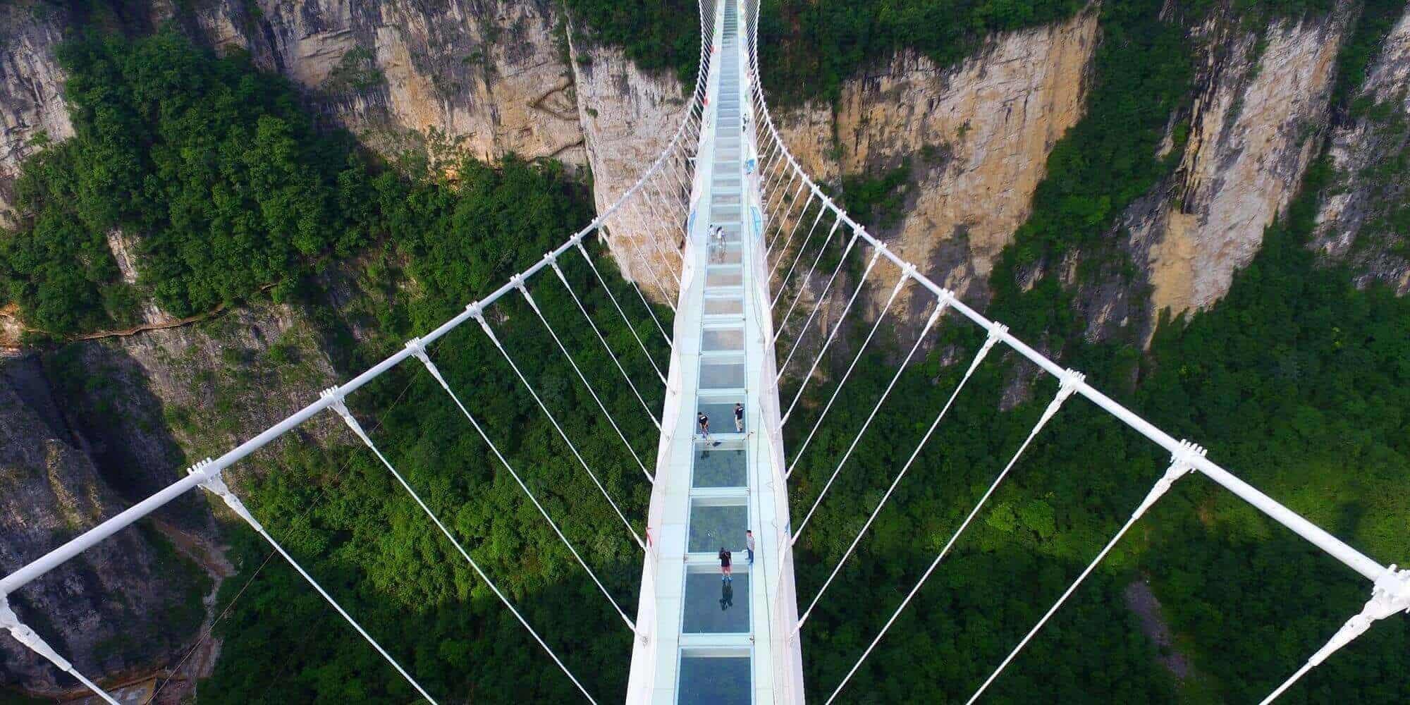 Shiniuzhai Geopark Glass Bridge