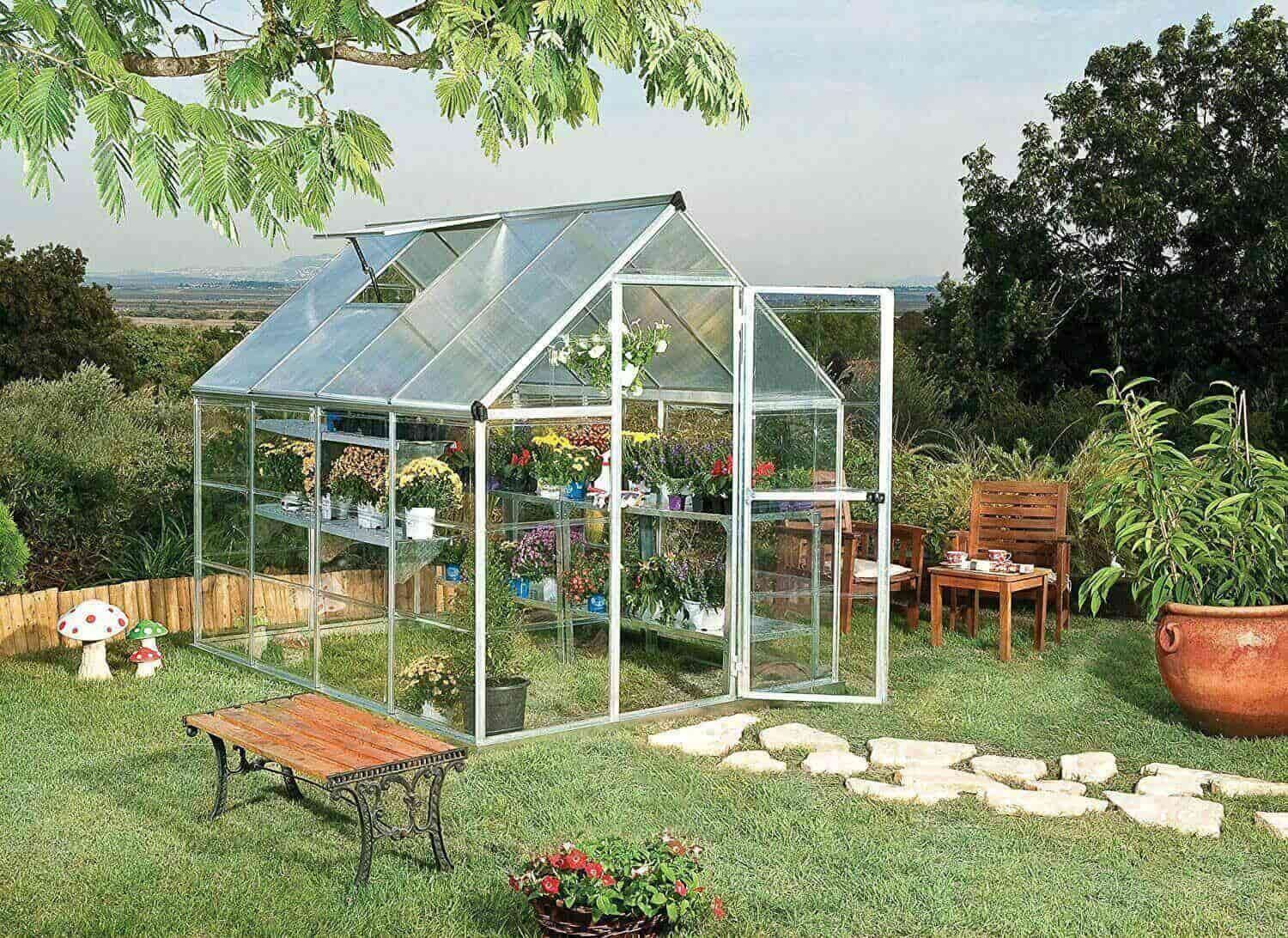 backyard greenhouse