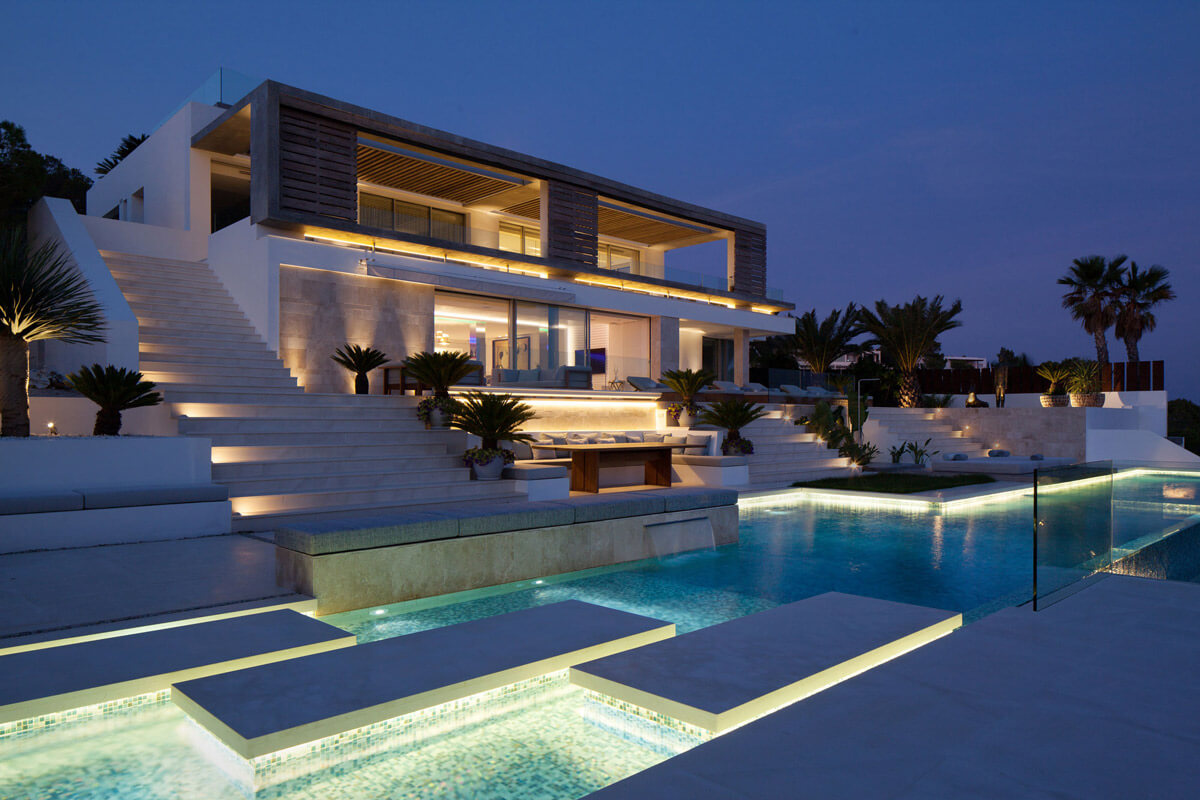Beach Villa In Roca Llisa, Ibiza With Panoramic Sea Views