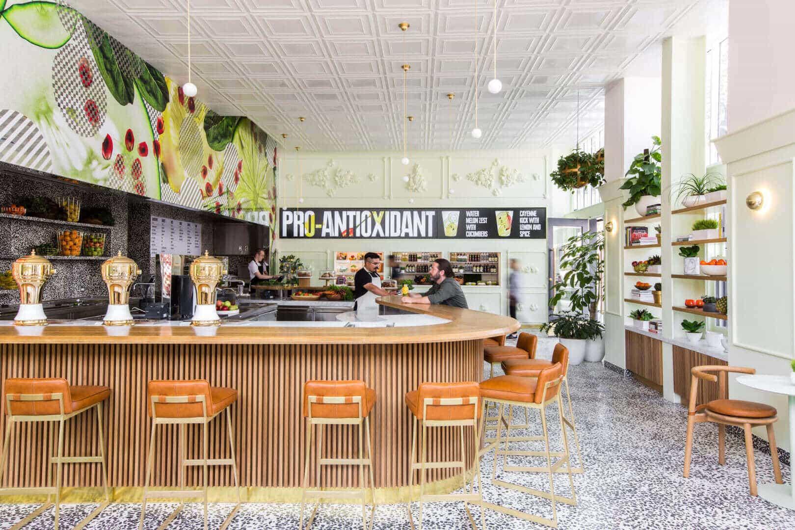 Fruit juice shop interior