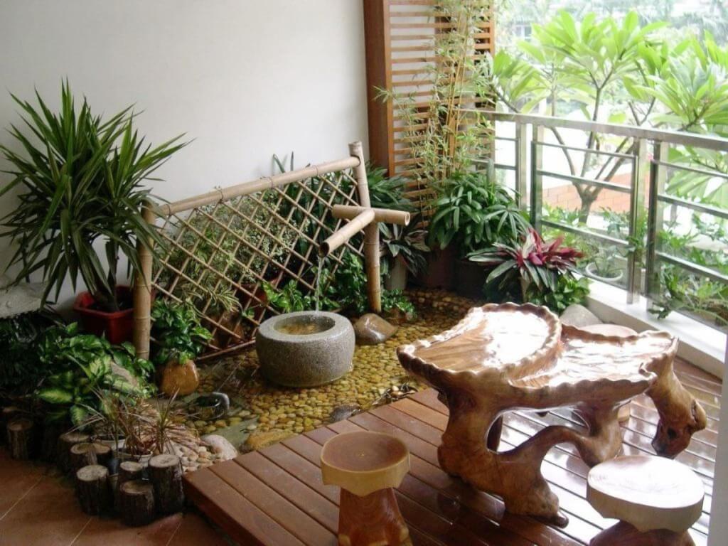 home garden in flat