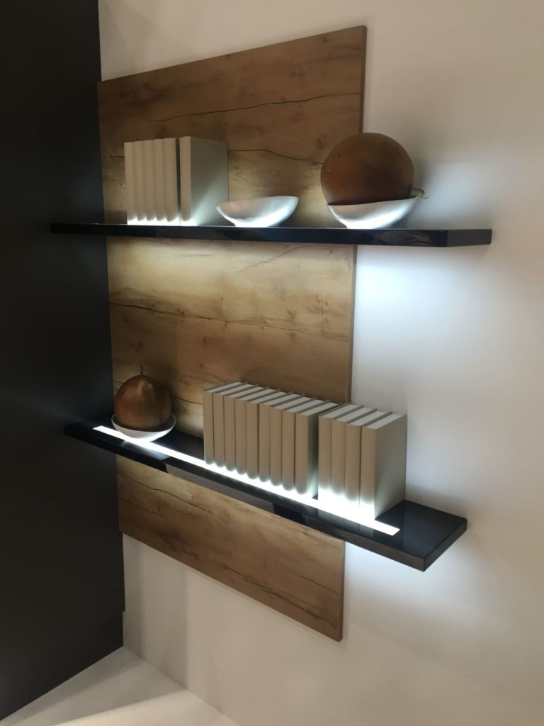 light in shelves