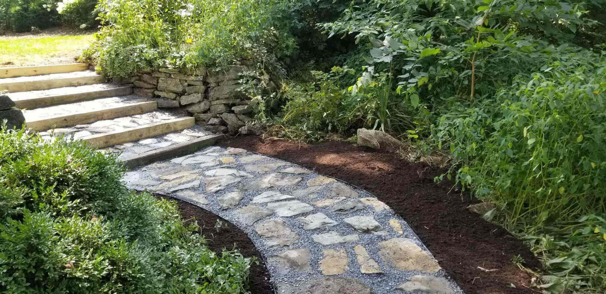 stone walkway for garden