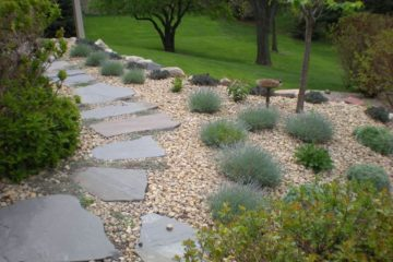 stone walkway for garden