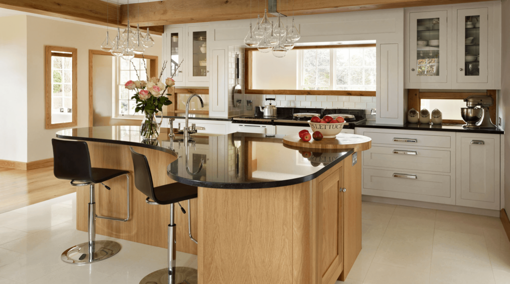 curved kitchen