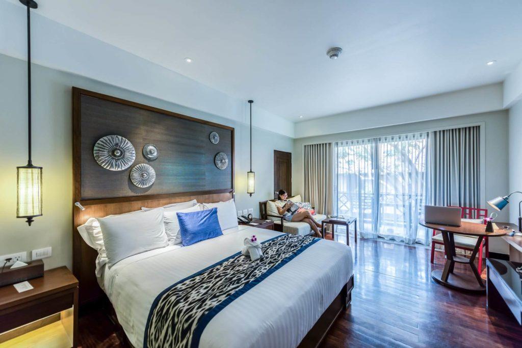Eucalyptus bedroom.