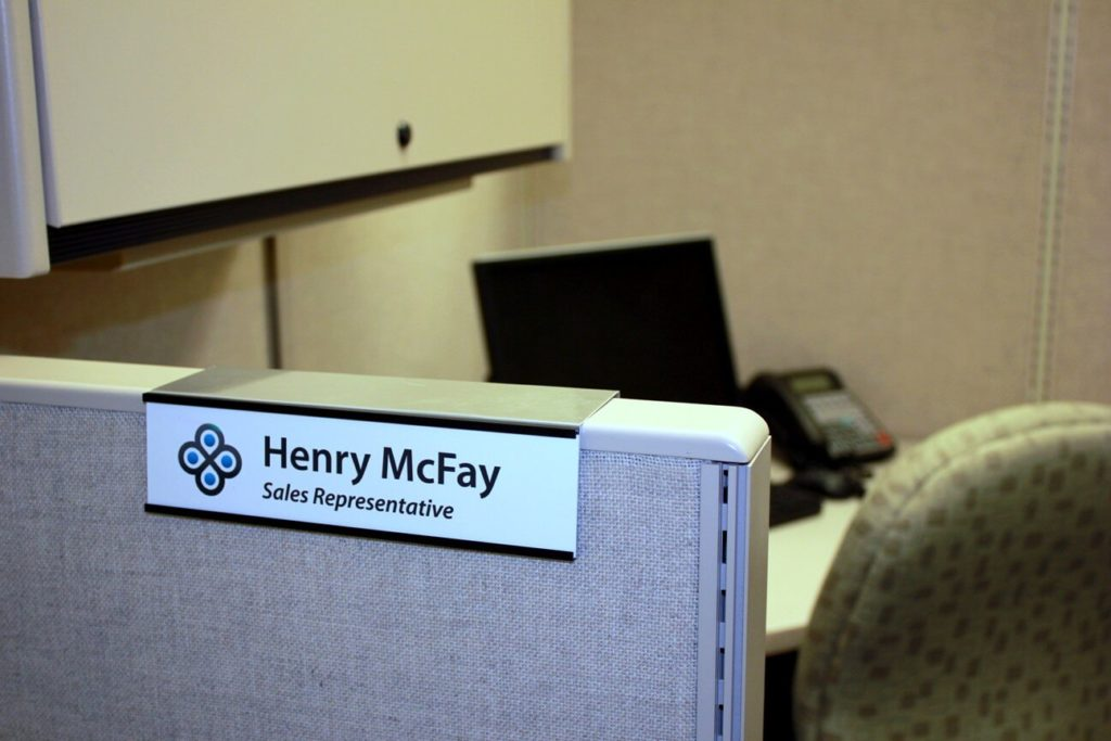 NameTag Office Sign