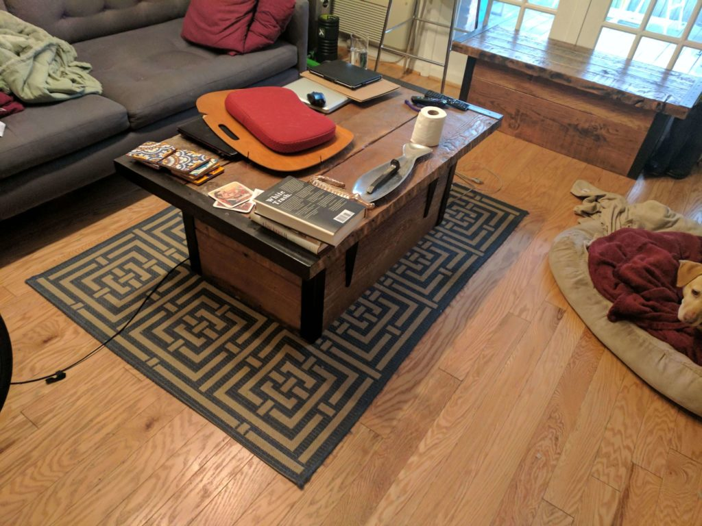 Clutter On The Coffee Table