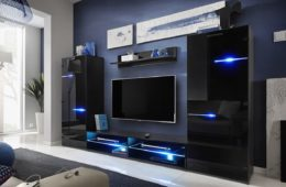 LED light in TV unit