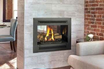 double side fireplace
