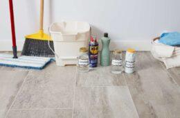clean tile flooring