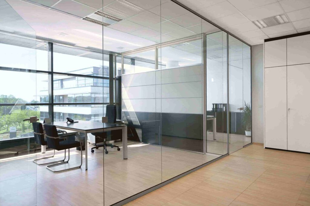 glass partition for office