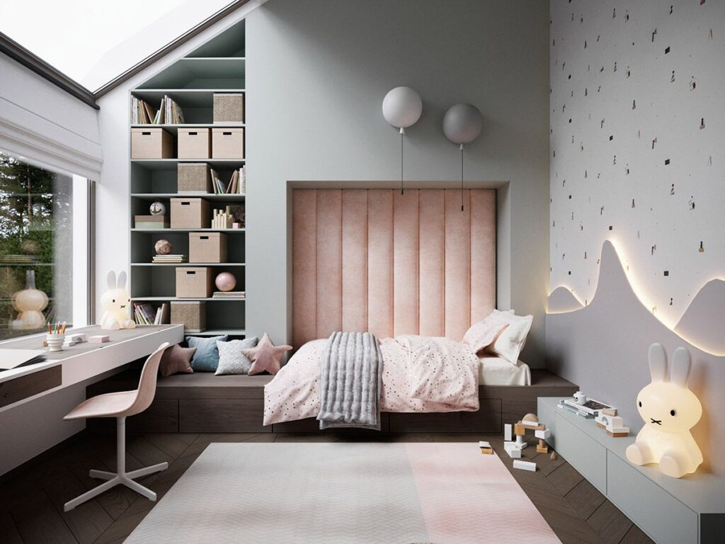 modern children bedroom