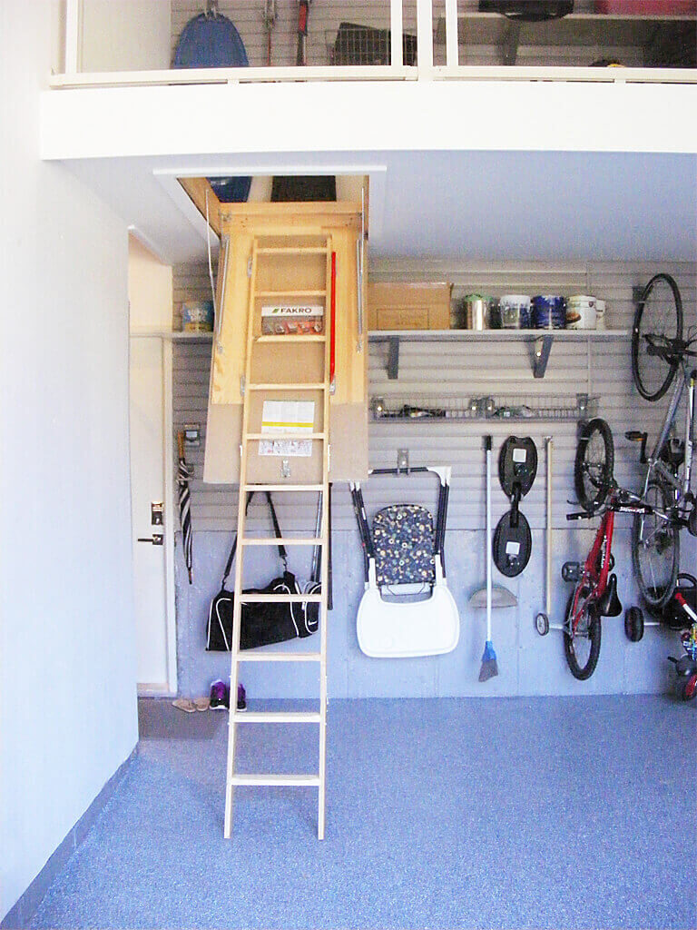 Ladder Storage Process In The Garage