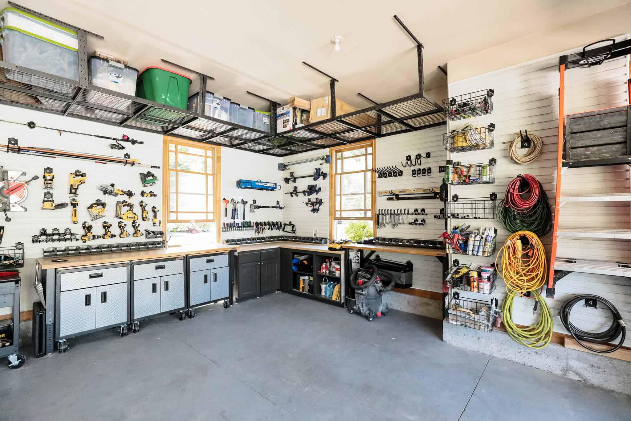 Ladder Storage Process In The Garage