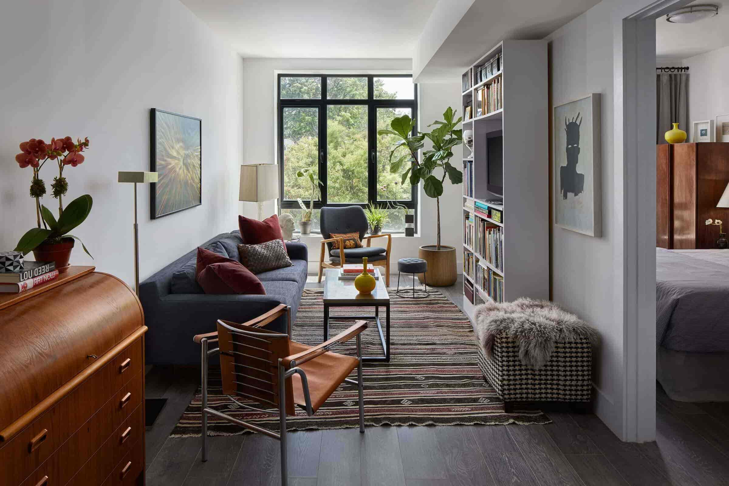 long and narrow living room