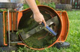 sharpen lawn mover blade