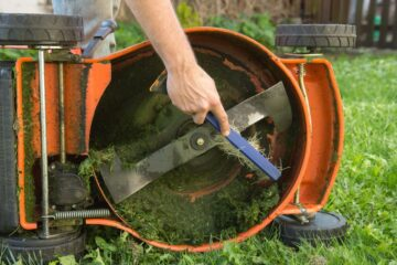 sharpen lawn mover blade