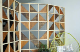 Glass wooden screens