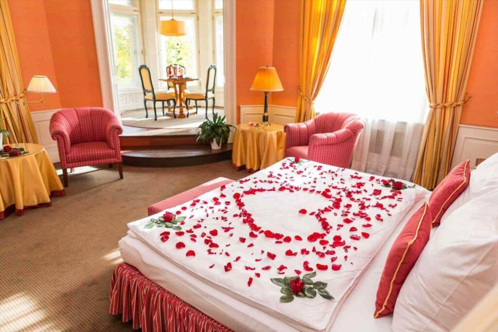 valentine day room decoration