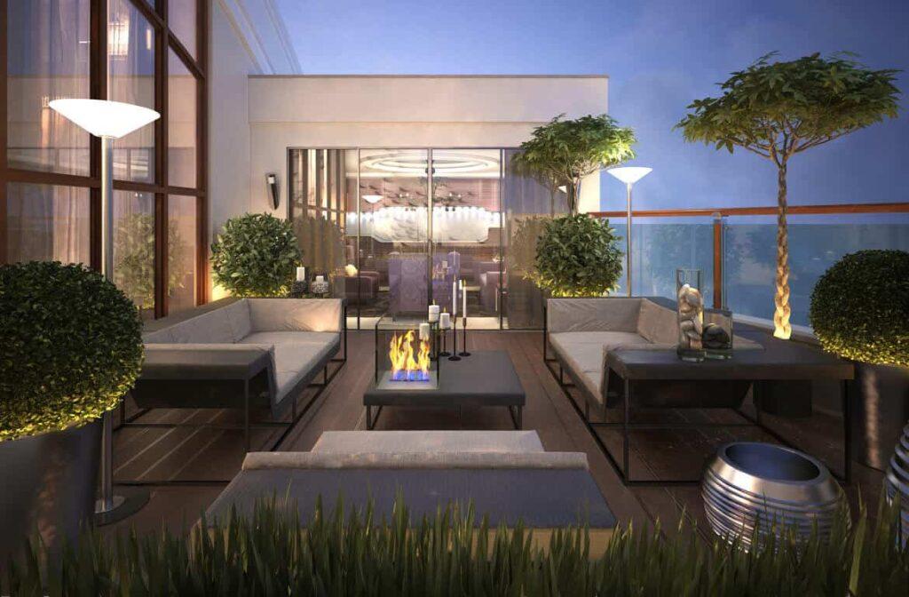 Modern Terrace Garden