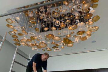 Installation of Chandeliers