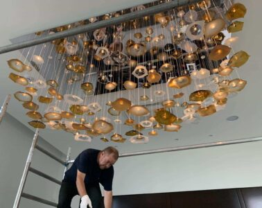Installation of Chandeliers