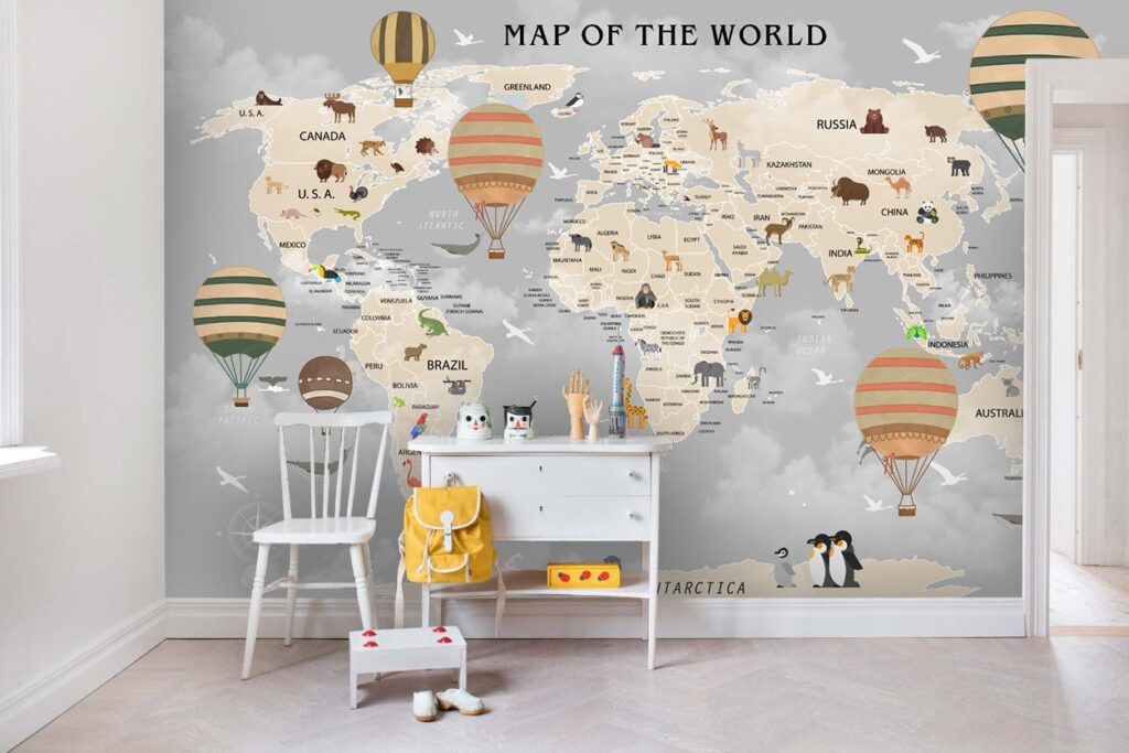 Removable Wallpapers for the Nursery and Playroom