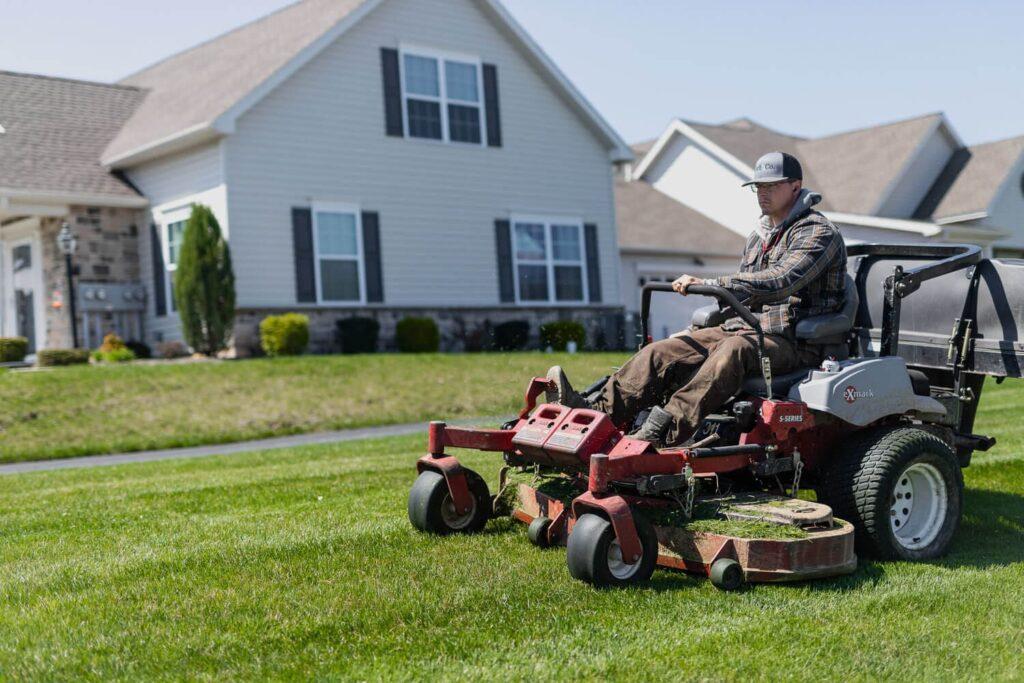Lawn Mowing Technique