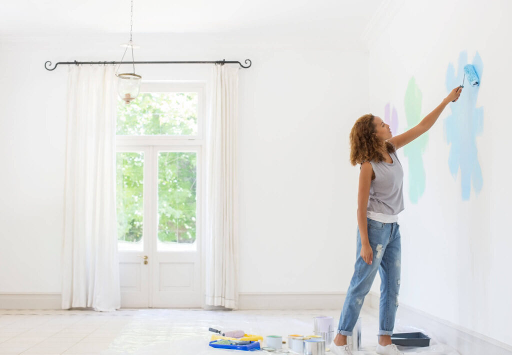 Add a fresh coat of paint to the walls