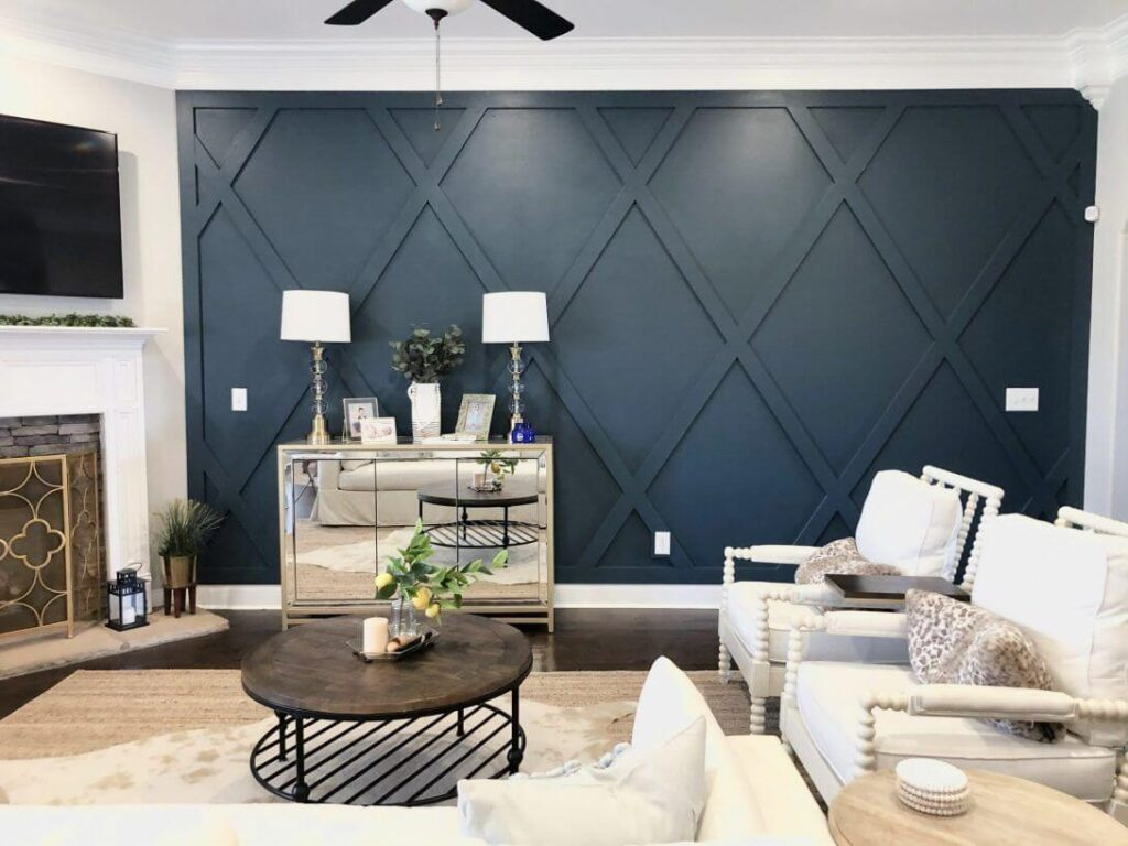 accent wall to the living room
