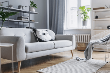 decorate your living room in grey